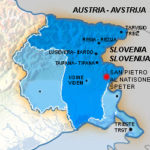 Cartina del Friuli Venezia Giulia / Zemljevid Furlanije Juliske Krajne